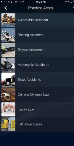 Mobile App From John D Fernandez Law Firm